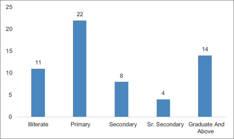 Figure 4: Percentage distribution of decision makers based on the level of education